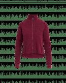OVERTONE: Cardigan a collo alto rosso porpora con zip frontale