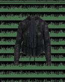 ANYWISE: Giacca cardigan nera con motivo paisley