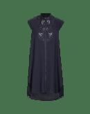 INTEREST: Sleeveless tunic shirt with pleated back