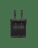 POCKETFUL: Black technical jersey shopper-backpack