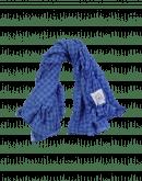 """LOOPHOLE: Blue """"seersucker """"check scarf"""