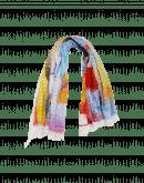"WHIRLIGIG: Multi-colour ""seersucker ""check scarf"