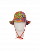 ENDORSE: Multi-colour tartan tech twill sun hat