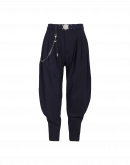 """DESCEND: Tapered pants with draped """"jodhpur"""" styling"""