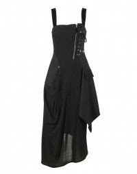 REVERIE: Vestito-corpetto in misto lana stretch