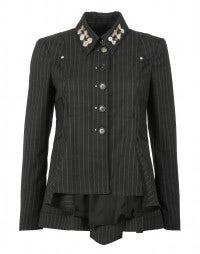 SCRUTINY: City-stripe tailor jacket