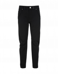 STEFAN: Black technical twill pants