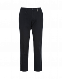 IMPOSE: Pantaloni sartoriali in drill blu navy