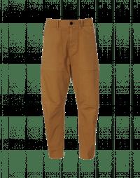 AMBLE: Pantaloni in drill di cotone color biscotto
