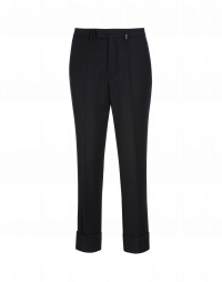 FELLOW: Classic flat front pant in navy twill