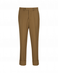 FELLOW: Classic flat front pant in brow twill