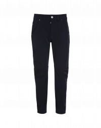 STEFAN: Navy blue technical twill pants
