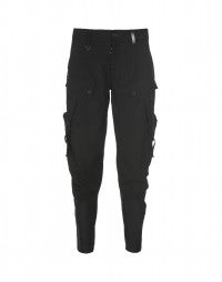 KRISTOFF: Black contemporary cargo pant