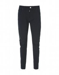 STEFAN: Navy blue low maintenance tech pants