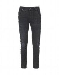 VICTOR: Blaue Jeans mit verwischter Entfärbung