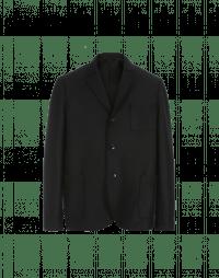 COMMIT: Giacca nera in lana cotta
