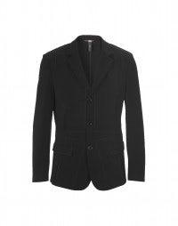 OTTO: Black multi-seamed tech-crêpe jacket