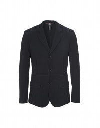OTTO: Navy multi-seamed tech-crêpe jacket
