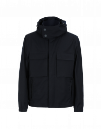 ALL-SEASON: Hooded jacket in tech-twill