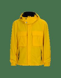 ALL-SEASON: Giacca gialla con cappuccio in twill tecnico