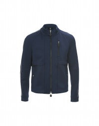 INGMAR: Mid blue zip-up sport jacket
