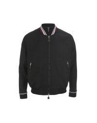 JOSEF: Black tech jersey blouson jacket