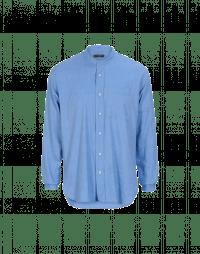 GLEN: Azure brushed cotton shirt