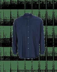 GLEN: Camicia navy in cotone spazzolato