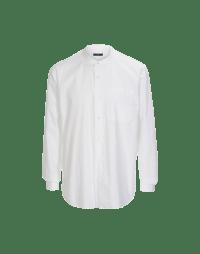 GLEN: Camicia bianca con colletto basso