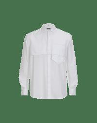 SPECIFIC: White cotton mans shirt