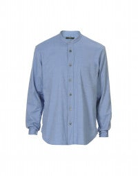 GLEN: Sky blue brushed cotton shirt