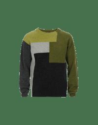 RAUCOUS: Colour block Shetland sweater