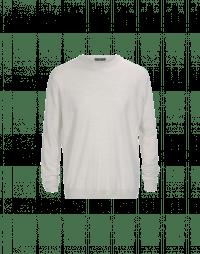 OBSERVE: Maglia leggera in lana vergine color avorio