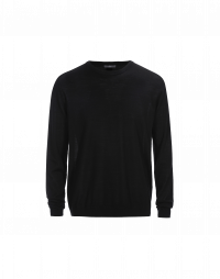 OBSERVE: Maglia leggera in lana vergine nera