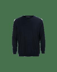 OBSERVE: Maglia leggera in lana vergine blu navy