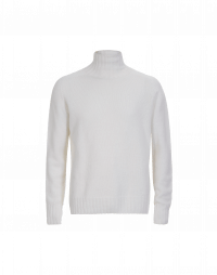 AVALANCHE: Roll neck sweater in Ivory virgin wool