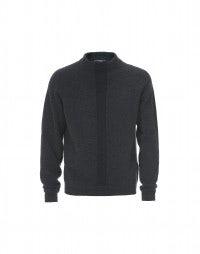 LOGAN: Charcoal marl rib knit