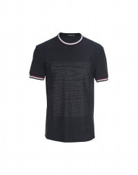 ROLF: Navy tyre pattern front tee