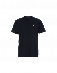 SHIFTY: Round neck t-shirt in navy cotton