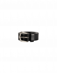 ROUTINE: Black leather belt