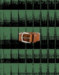 ROUTINE: Cintura in pelle marrone chiaro
