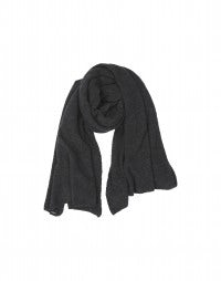 ROSS: Charcoal grey oversized scarf