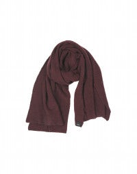ROSS: Burgundy oversized scarf