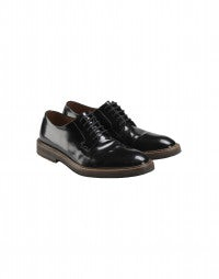ULF: Black patent leather hi-gloss brogues