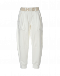 f61afaa08e76 POUNCE: Pantaloni bianchi sportivi con cintura