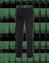 FIDGET: Straight leg pant in black jersey