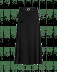 GAFFER: Wide leg culottes in black jersey