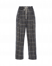 KNOWLEDGE: Grey, blue and yellow check pant