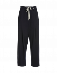 KNOWLEDGE: Tapered leg jersey pant with pleats