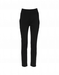 VITAL: High waisted pants in black jersey